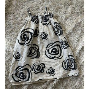 GAP KIDS HAVANA ROSE PRINT DRESS SMALL 6-7 White